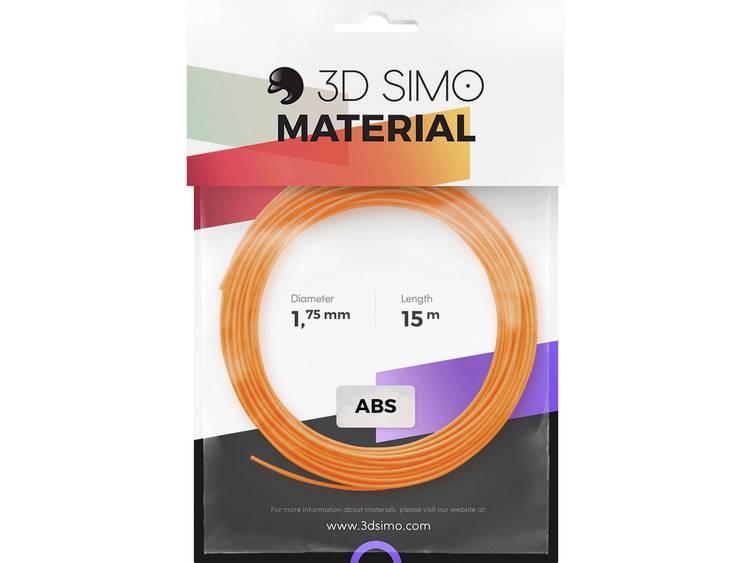 Filamentpakket 3D Simo 3Dsimo-ABS-2 ABS kunststof 1.75 mm Oranje, Zwart, Wit 120 g