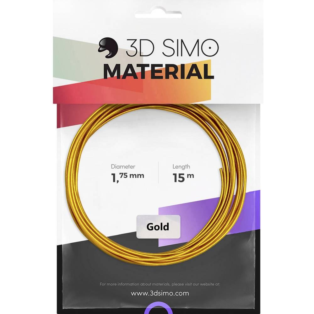 3D Simo 3Dsimo Gold 3D-skrivare Filament 1.75 mm 40 g Guld 1 st