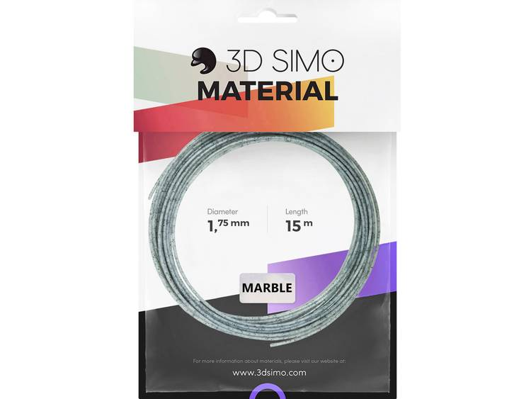 Filament 3D Simo 3Dsimo-Marble 1.75 mm Marmer-grijs 40 g
