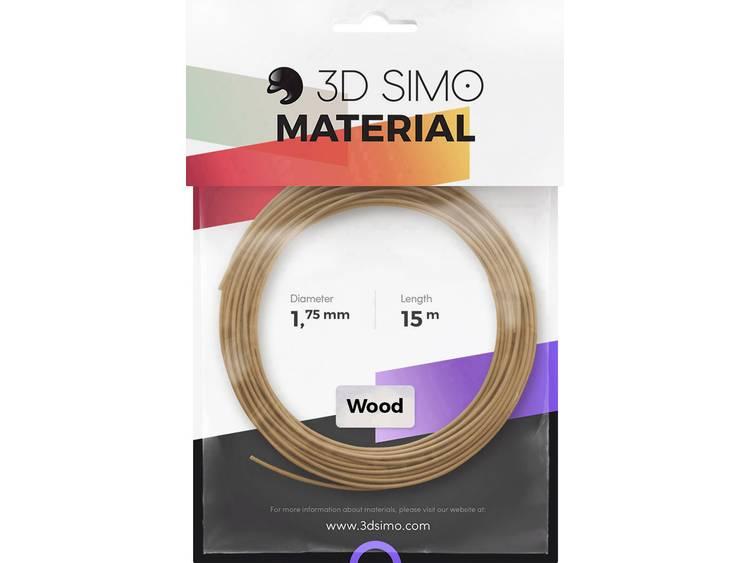 Filament 3D Simo 3Dsimo Wood Holz braun 1.75 mm Hout 40 g