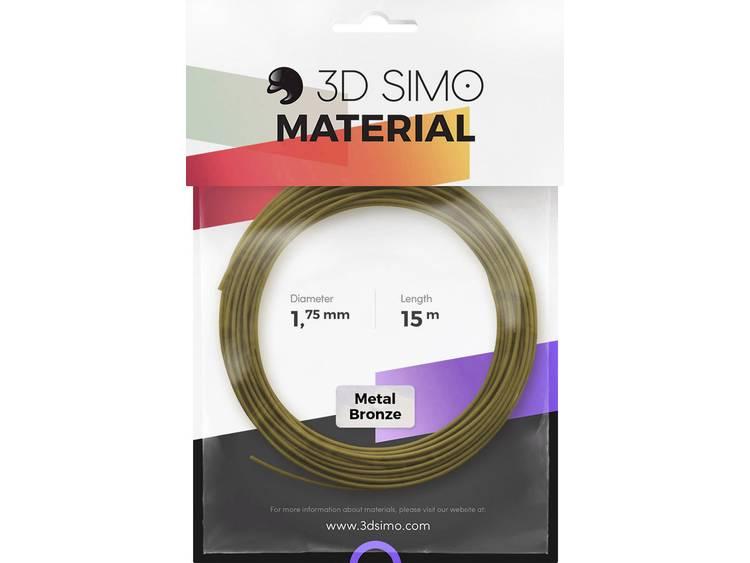 Filament 3D Simo 3Dsimo Metall Bronze 1.75 mm Brons (metallic) 40 g