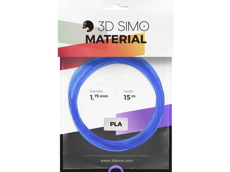 Filamentpakket 3D Simo 3Dsimo PLA Transparent blau, rot & weià PLA kunststof 1.75 mm Blauw (transparant), Rood (transparant), Wit (transparant) 120 g