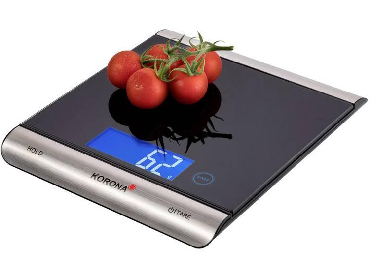 Korona Finja Keukenweegschaal Weegbereik max. 15 kg Zwart Zilver