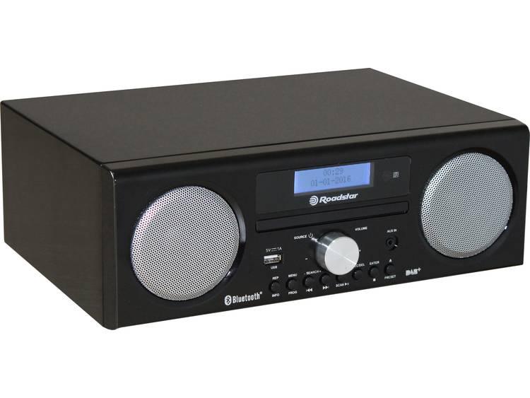 Roadstar HRA-9D+BT DAB+ Tafelradio AUX, Bluetooth, USB, FM, CD Accu laadfunctie,