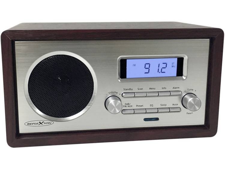 Reflexion HRA1250 FM Tafelradio AUX Hout