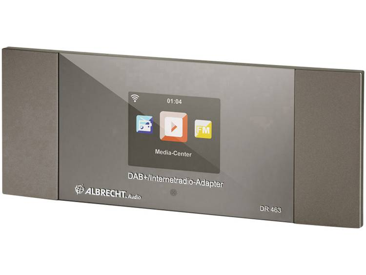 Albrecht DR 463 Internetradio-adapter DAB+, FM Bluetooth, DLNA, Internetradio, W