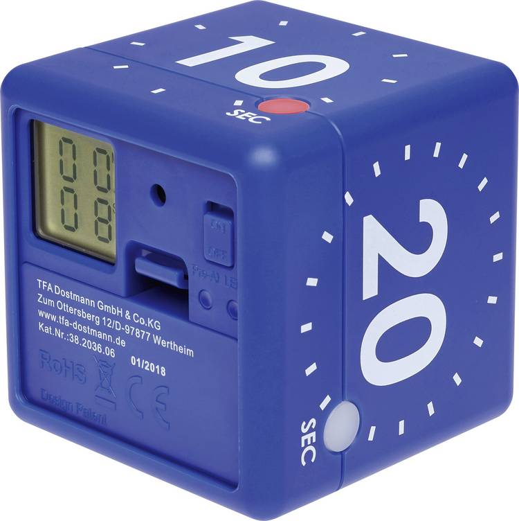 Image of Timer TFA CUBE Blauw Digitaal