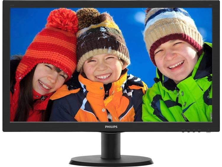 LED-monitor 59.9 cm (23.6 inch) Philips 243V5LHSB5 Energielabel B 1920 x 1080 pix Full HD 1 ms HDMI, VGA, DVI TN LED