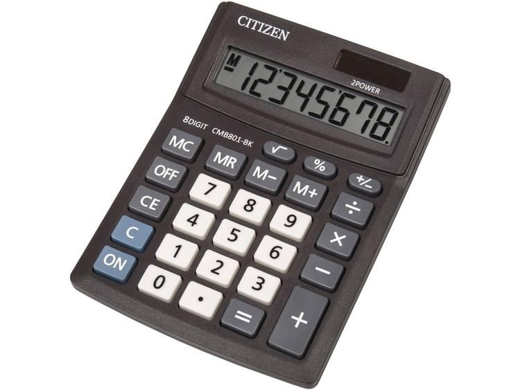 Bureaurekenmachine Citizen Office CMB 801 Aantal displayposities: 8 werkt op zonne-energie, werkt op batterijen