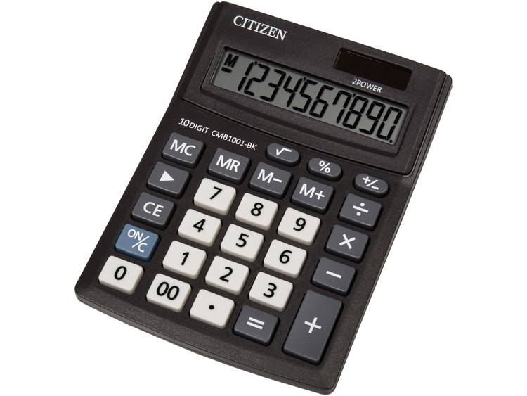 Bureaurekenmachine Citizen Office CMB 1001 Aantal displayposities: 10 werkt op zonne-energie, werkt op batterijen