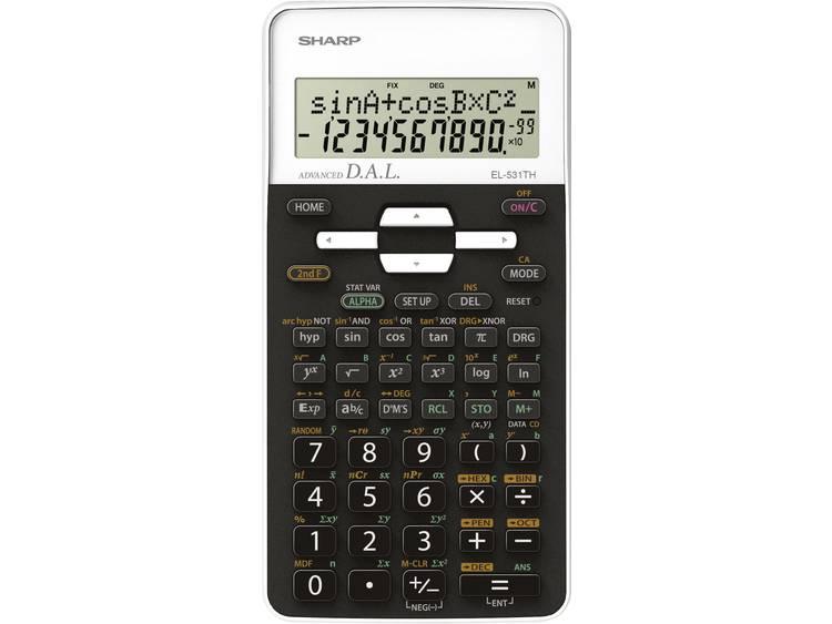 Schoolrekenmachine Sharp EL-531TH Wit Aantal displayposities: 10 werkt op batterijen