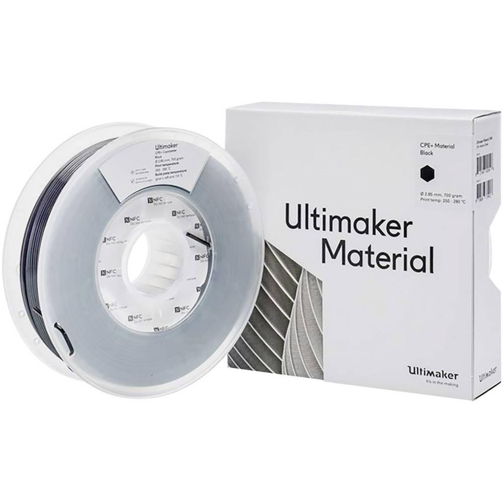Ultimaker 1644 3D-skrivare Filament CPE+ kemiskt beständig 2.85 mm 700 g Svart 1 st