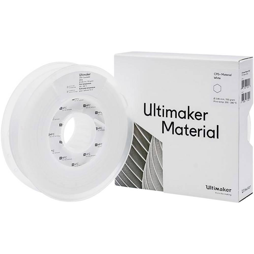 Ultimaker 1645 3D-skrivare Filament CPE+ kemiskt beständig 2.85 mm 700 g Vit 1 st