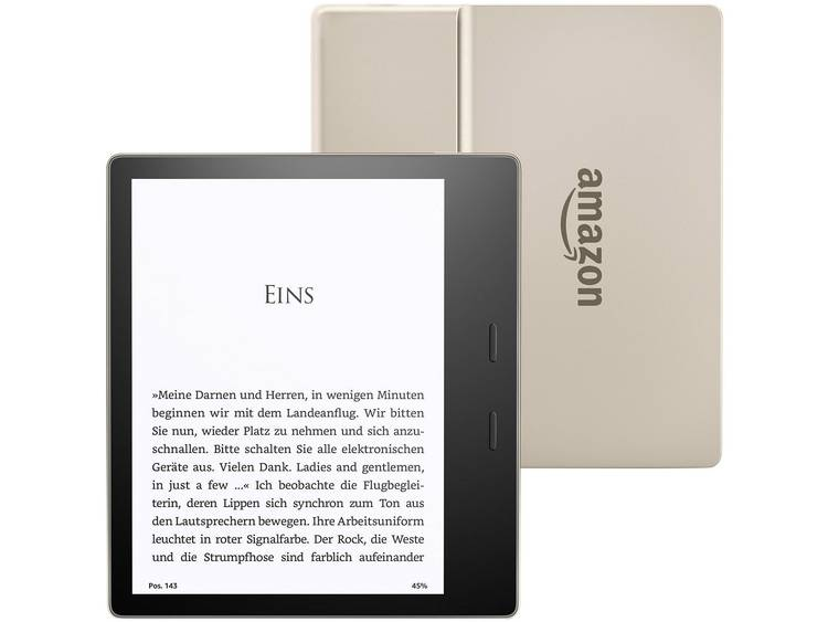 amazon All New Kindle Oasis eBook-reader 7 inch (17.8 cm) Goud
