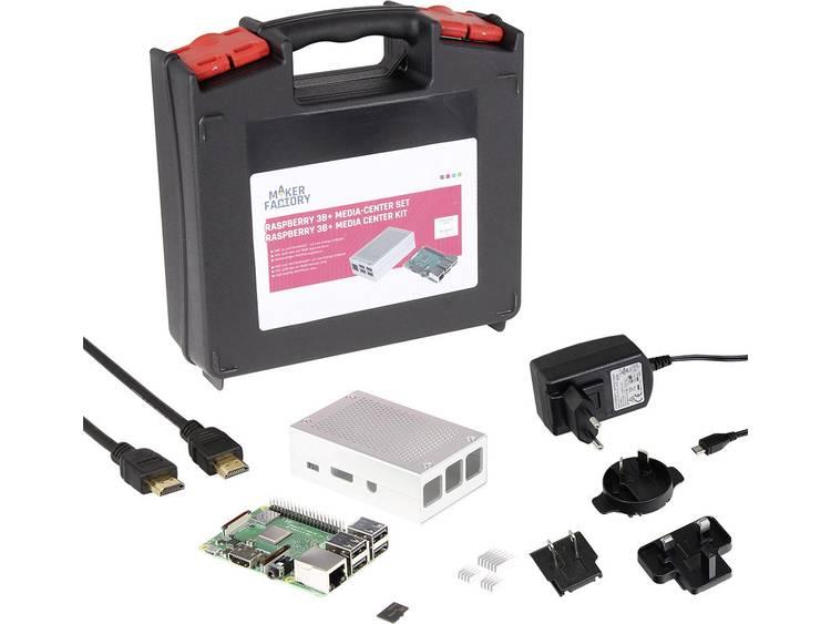 Raspberry Pi 3 model B+ 1 GB Incl. behuizing, Incl. netvoeding, Incl. software