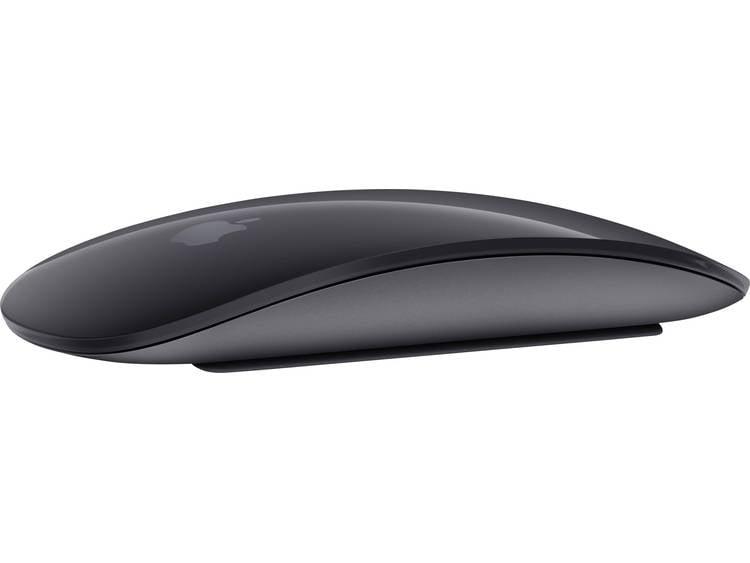 Apple MAGIC MOUSE 2 Bluetooth muis Spacegrijs Touch-knoppen, Oplaadbaar
