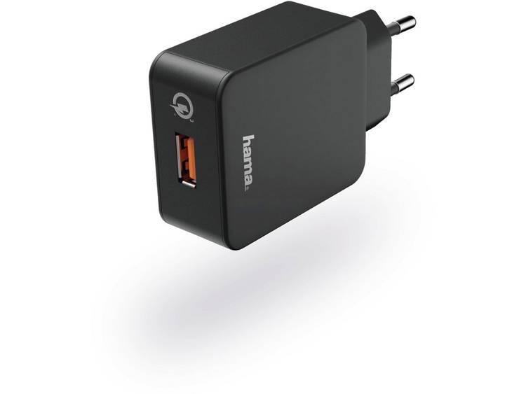 Hama Reislader set picco micro USB Qualcomm 3.0 zwart