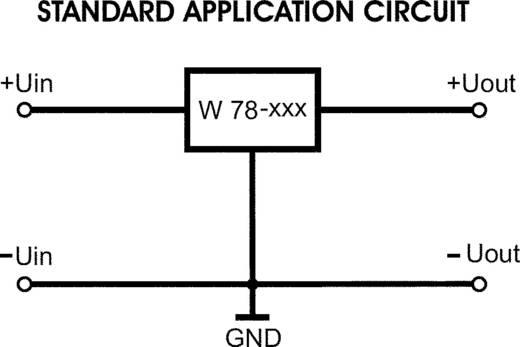 Conrad Components W78-12V Spanningsregelaar - DC/DC-schakelregelaar Vertikaal Positief Vast 1 A