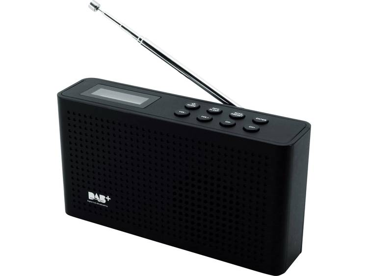 SoundMaster DAB150SW DAB+ Transistorradio DAB+, FM Herlaadbaar Zwart
