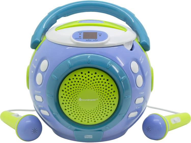 SoundMaster KCD1600BL Kinder CD-speler CD Incl. karaoke-functie Blauw