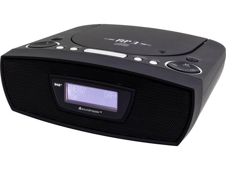 SoundMaster URD480SW FM Wekkerradio AUX, CD, FM, USB Zwart
