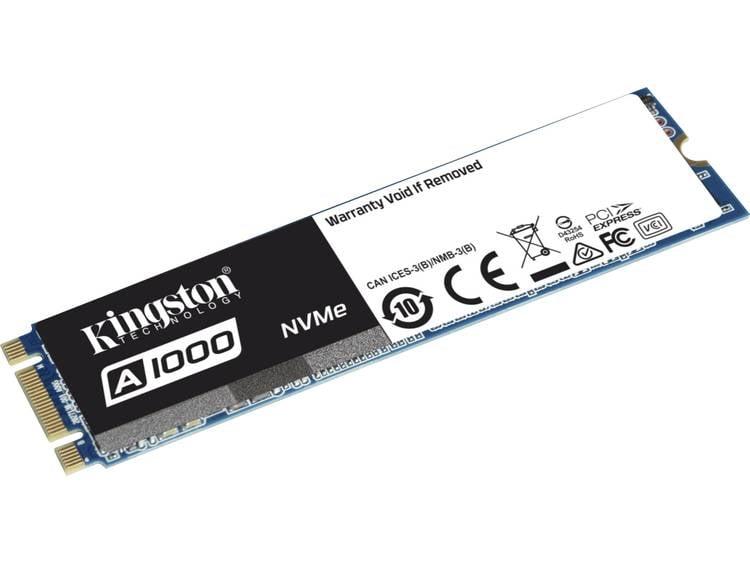 SATA M.2 SSD 2280 harde schijf 480 GB Kingston Retail SA1000M8/480G PCI-Express