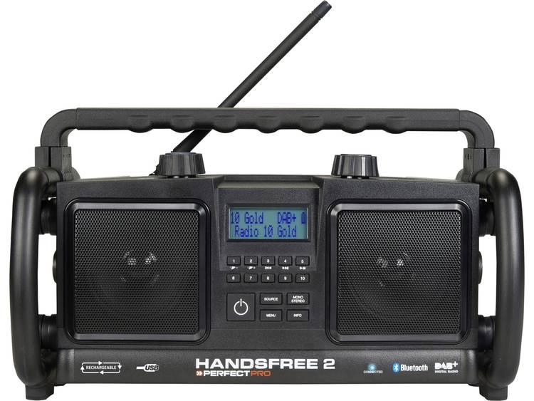 PerfectPro Handsfree 2 Bouwradio FM AUX, Bluetooth, USB Accu laadfunctie, Handsf