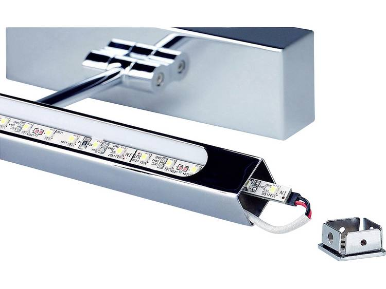 Led-schilderijlamp STRIP chroom, led, warm wit