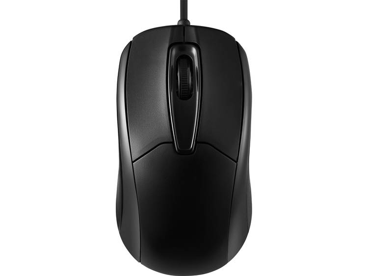 Perixx PERIMICE-209 USB muis Optisch Zwart