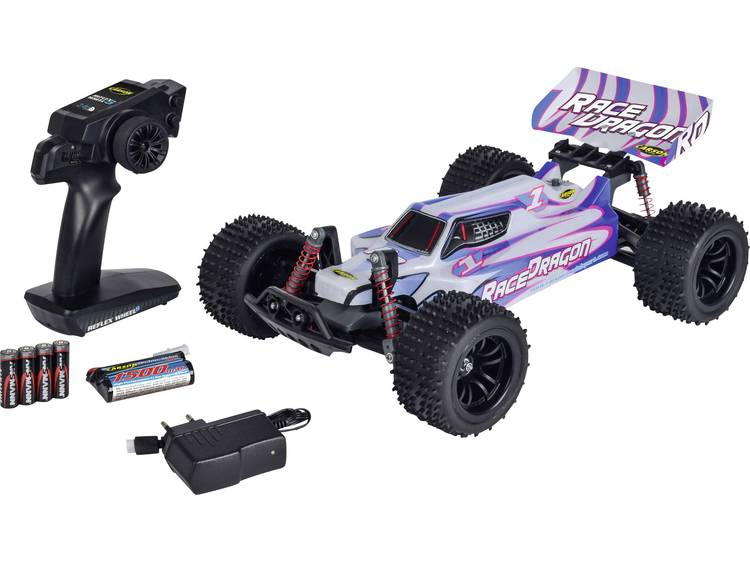 Carson Modellsport 1:10 Brushed RC auto Elektro Buggy Achterwielaandrijving 100% RTR 2,4 GHz Incl. a