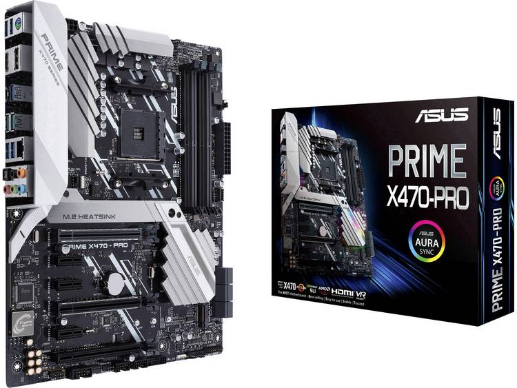 Asus Prime X470-Pro Moederbord Socket AMD AM4 Vormfactor ATX Moederbord chipset AMD® X470