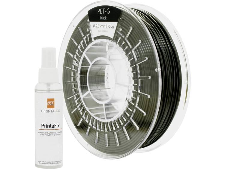 Filament APRINTAPRO 1001-110171 PLA kunststof 1.75 mm Zwart 750 g