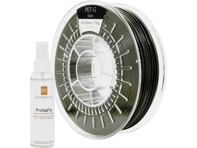 Filament APRINTAPRO 1001-110172 PLA kunststof 2.85 mm Zwart 750 g