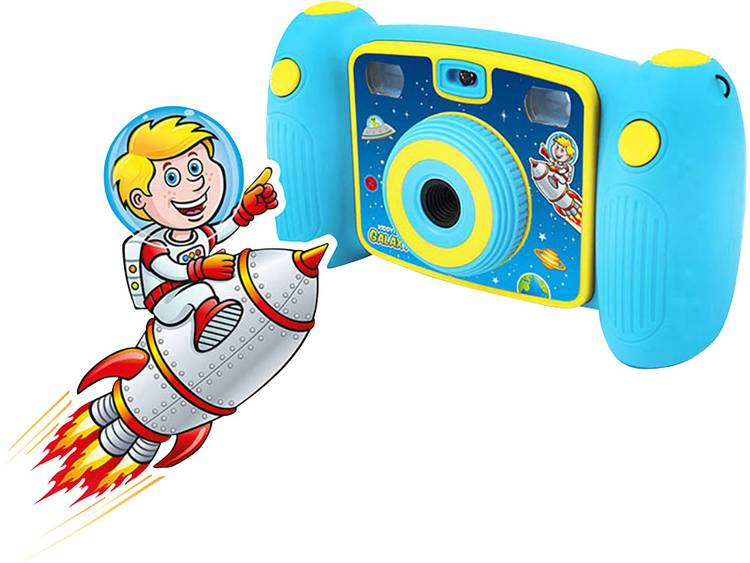Easypix Kiddypix Galaxy Digitale camera 5 Mpix Lichtblauw Full-HD video-opname