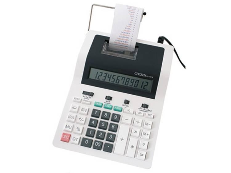 Citizen Office CX-121N Wit, Zwart Aantal displayposities: 12 werkt op het lichtnet