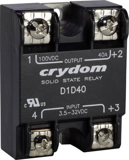 Crydom D1D80 Halfgeleiderrelais 1 stuks Laadstroom (max.): 80 A Schakelspanning (max.): 100 V/DC