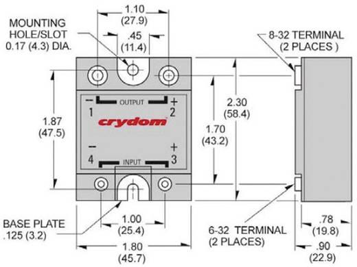 Crydom D1D20 Halfgeleiderrelais 1 stuks Laadstroom (max.): 20 A Schakelspanning (max.): 100 V/DC