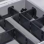 Koffer met aluminium frame 395 x 315 x 140 mm zilver
