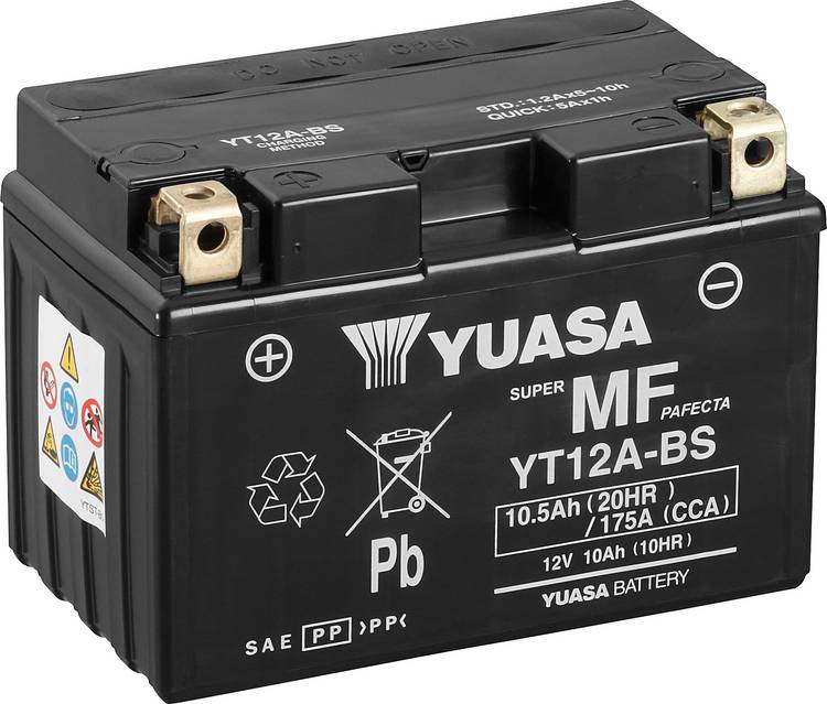 Image of Motoraccu Yuasa YT12A-BS 12 V 10 Ah Geschikt voor model Motorfietsen, Quads, Jetski, Sneeuwscooters