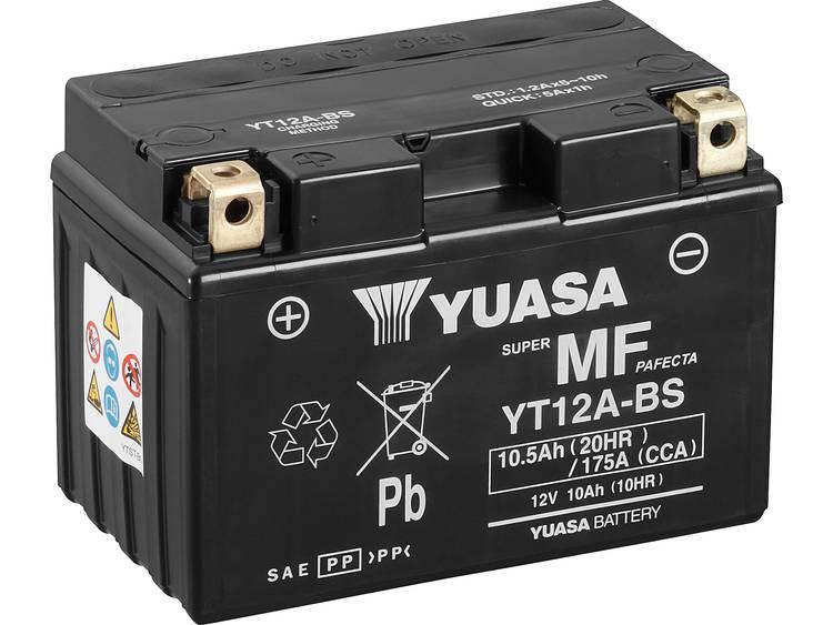 Motoraccu Yuasa YT12A BS 12 V 10 Ah Geschikt voor Motorfietsen, Quads, Jetski, Sneeuwscooters