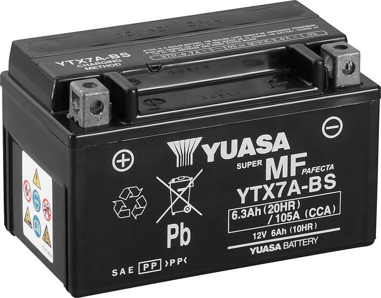 Image of Motoraccu Yuasa YTX7A-BS 12 V 6 Ah Geschikt voor model Motorfietsen, Quads, Jetski, Sneeuwscooters