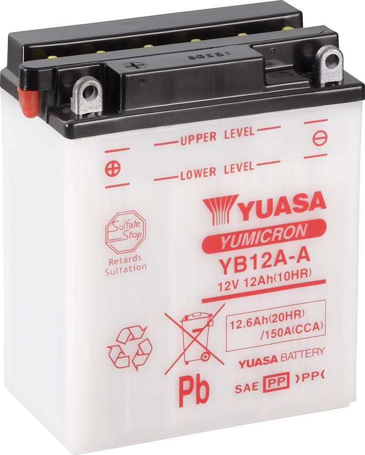 Image of Motoraccu Yuasa YB12A-A 12 V 12 Ah Geschikt voor model Motorfietsen, Scooters, Quads, Jetski, Sneeuwscooters, Zitmaaiers