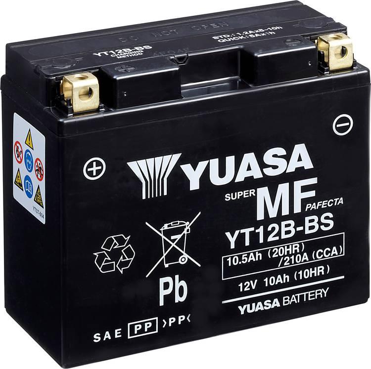 Image of Motoraccu Yuasa YT12B-BS 12 V 10 Ah Geschikt voor model Motorfietsen, Quads, Jetski, Sneeuwscooters