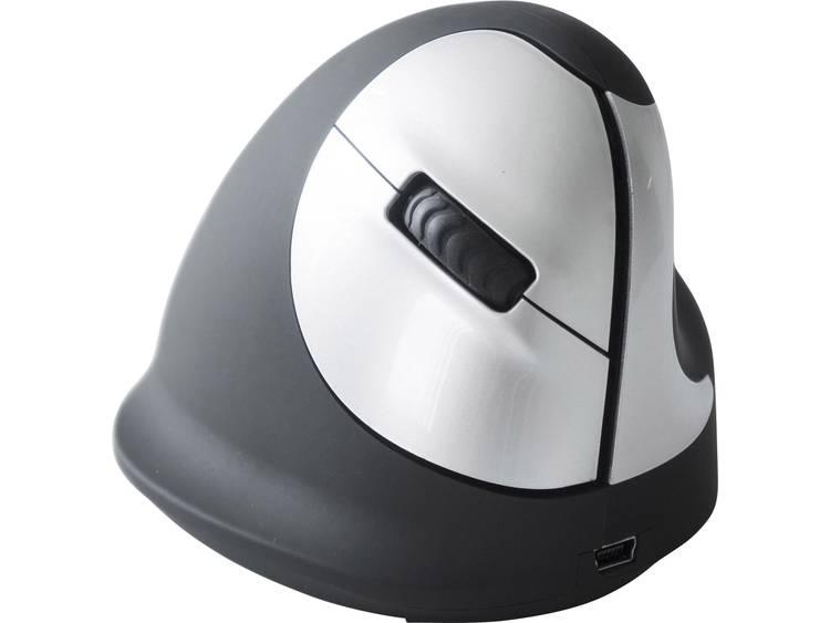 R-GO Tools RGOHEWL Draadloze muis Optisch Ergonomisch Zwart/zilver
