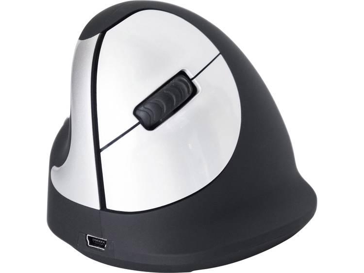 R-GO Tools RGOHEWLL Draadloze muis Optisch Ergonomisch Zwart/zilver