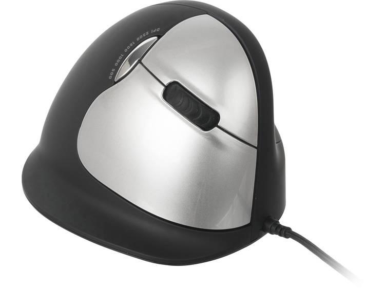 R-GO Tools RGOBRHEMLR USB muis Optisch Ergonomisch Zwart/zilver