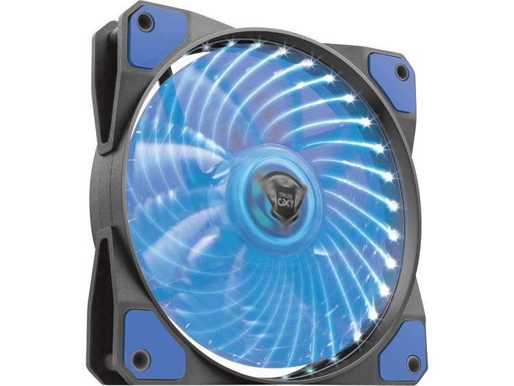 PC ventilator Trust GXT 762B Zwart, Blauw (b x h x d) 120 x 120 x 25 mm