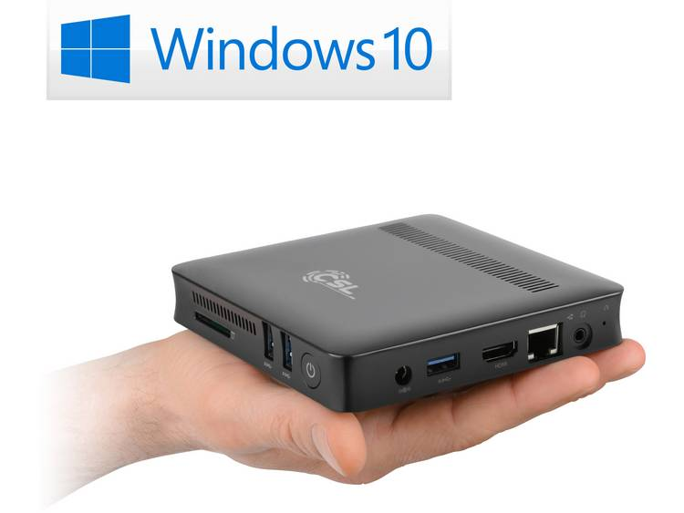 Mini-PC (HTPC) CSL Computer CSL Narrow Box Ultra HD Compact N4200 4 GB 505 Microsoft Windows 10 Home