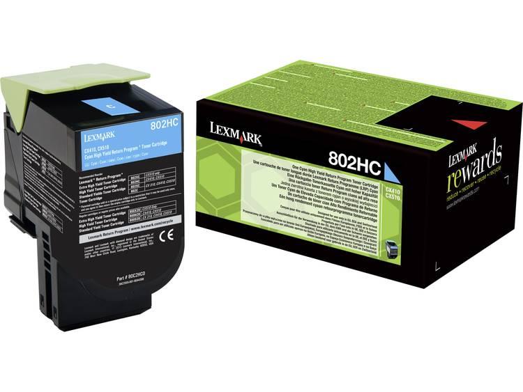 Lexmark Tonercassette 802HC CX410 CX510 80C2HC0 Origineel Cyaan 3000 bladzijden