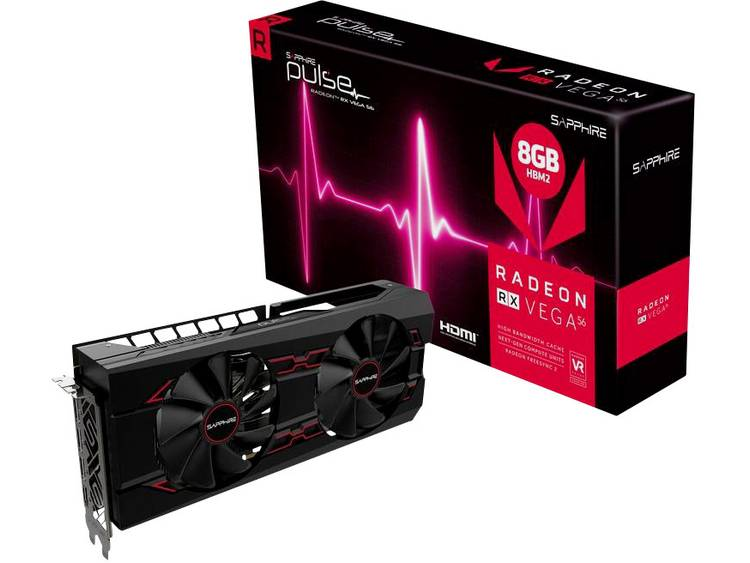 Videokaart Sapphire AMD Radeon RX Vega 56 Pulse 8 GB HBM2-RAM PCIe x16 HDMI, DisplayPort